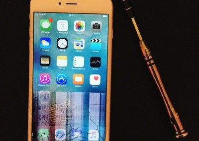 iPhone 6 Plus – Pantalla rota y doblado